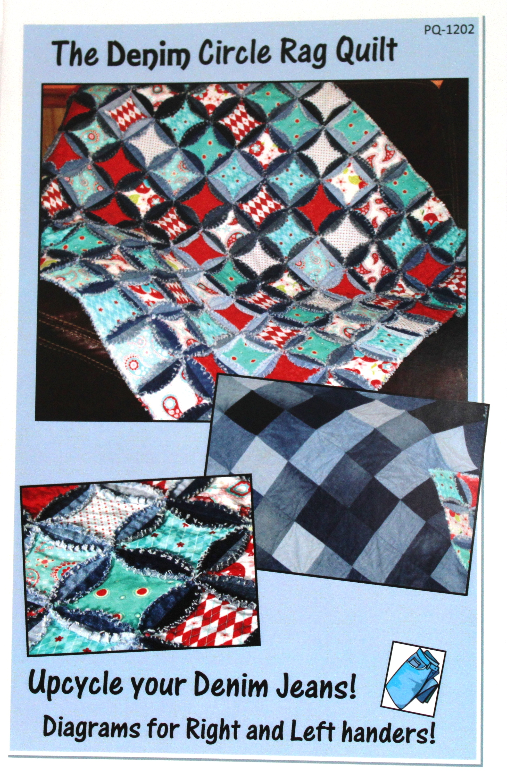Denim Circle Rag Quilt Pattern : denim circle rag quilt - Adamdwight.com