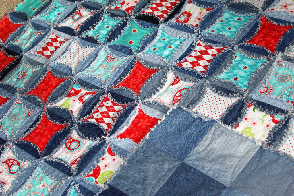 Denim Circle Rag Quilt Pattern